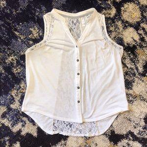 White Lacy Shirt